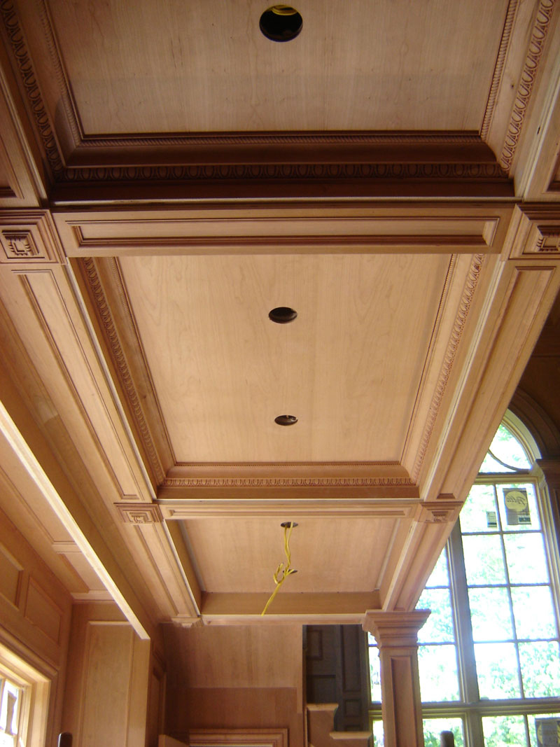 Custom Cauffered Coffered Ceilings Box Beams Crown