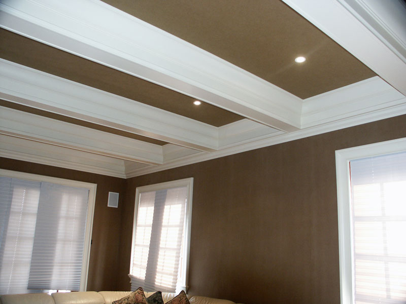 Coffered Ceilng Box Beams Ceiling Crown Moulding